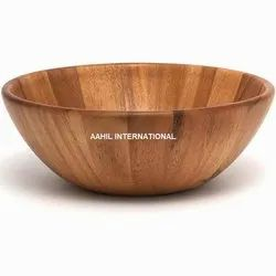 Aahil International Natural Polish Decorative Bowl, For Multi Use, Set Contains: Single Piece