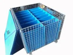 Wire Mesh Containers With Plastic Cage Pocket