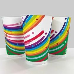 White Printed Paper Cups, Size: 300 ML
