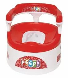 Baby Red Potty Seat With Back Support