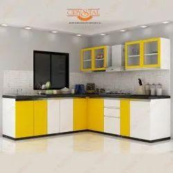 L Shaped Modular Kitchen Service