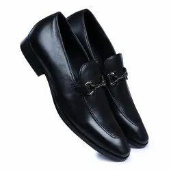 Black Mens Slip On Leather Shoes