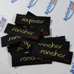 Black Cotton Woven Tags Near Me, Packaging Type: Packet, Heat Cut