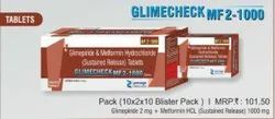 Glimepiride and Metformin Hydrochloride Sustained Release Tablets