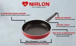 Nirlon Aluminium Non-Stick Frying Pan, 20 cm