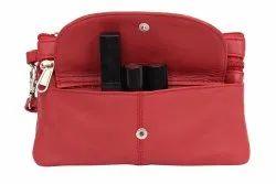 Pink Handy Leather Bag, Size: Standard