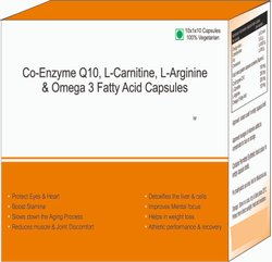 Co-Enzyme Q10, L-Carnitine, L-Arginine & Omega 3 Fatty Acid Capsules
