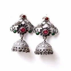 Silver Look Like Oxidized Fashion Earrings