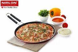 Nirlon 4mm Non Stick cookware Gas Compatible Aluminium Flat roti dosa tawa with Wire Handle