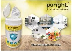 Puright 80 Pulls Canister Wipes