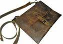 Vintage Leather Tablet Messenger Bag