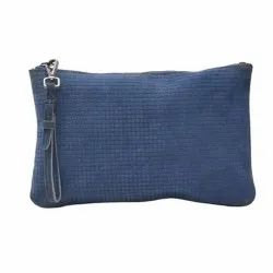 Blue Ladies Leather Wallets