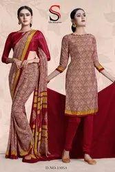 Uniform Saree And Suits