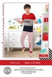 Mix Night Dress Kids Boys Nightwear, Size: 4 To 14
