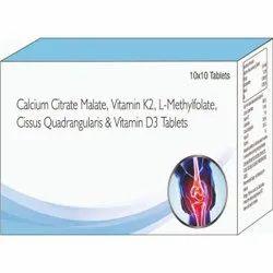 Calcium Citrate Malate, Vitamin K2, L - Methylfolate, Cissus Quadrangularis & Vitamin D3 Tablets