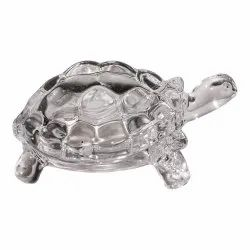 Crystal Turtle and Plate Statue
