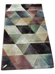 Abstract Multicolor Cotton Room Carpet, Shape: Rectangle