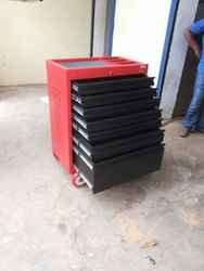 M S Material Red Tools Cabinet