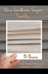 M Brown Marble