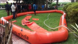 Inflatable Flood Barrier