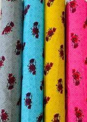 Rayon Discharge Printed Fabric
