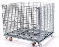 Wire Mesh  Cage Trolley Collapsable