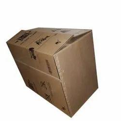 Brown Rectangular 5 Ply Custom Printed Corrugated Box