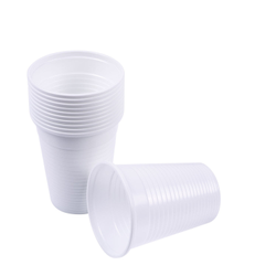 White Plain Disposable Plastic Cup, For Event and Party Supplies, Capacity: 200ml