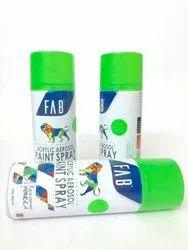 Fluoresent Green Aerosol Spray Paints - FAB Brand