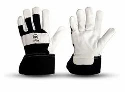 Goat Skin Leather Palm Safety Cuff Gloves