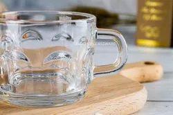 Glass Tea Cup Set, Set of 6, 140 Ml Each (KTZB52)