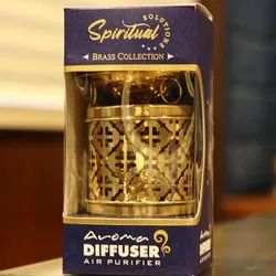 Golden Brass Aroma Diffuser, For Home, Size: 11cm X 9.5cm
