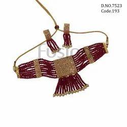 Fusion Arts Stone Choker Necklace Set