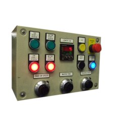 Mild Steel 1 Hp Single Phase Motor Control Panel, 220V, IP Rating: IP44