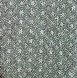Polyester Died Floral Lucknowi Embroidery & Digital Print Fabric, Multicolour