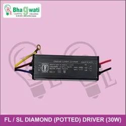 30W Street Light / Flood Light Diamond (Potted) Driver