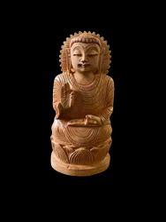 Gautam Buddha Ji Wooden Murti 6 Inch