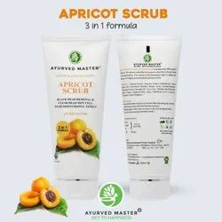 Cream Ayurved Master Apricot Scrub:50gm Tube, For Personal, Packaging Size: 50gm And 100gm