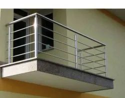 Stainless Steel Balcony Railing, For Home, Material Grade: SS316