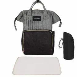 Shopolic MP-30-Diaper Bag-Black & Grey