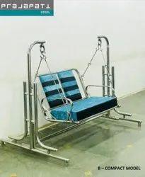 Stainless Steel Home Swing 2 Seater, For Indoor & Garden