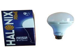 Round Abs Halonix 9w Inverter Led Bulbs, E40