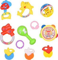 Mickleys High Quality Set Of 8 Baby Concert Funny Little Toy For Baby Rattle