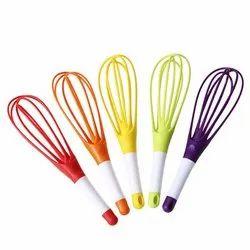 Multicolor Manual Magic Foldable Plastic Whisk Beater