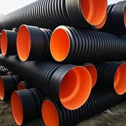 HDPE Black DWC Sewerage and Drainage Pipe 400 MM ID