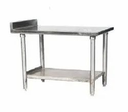 Polished Stainless Steel Work Table, For Restaurant, Number of Shelves: 1