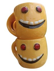 Yellow Smiley Face Printed Ceramic Mug