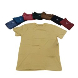 Round Plain Mens Half Sleeve Brisky Cotton T Shirt, Size: XL