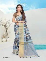Ladies Cotton Digital Printed Saree
