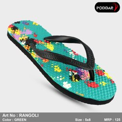 Multicolor Women Poddar Hawai Slippers, Size: 4*8